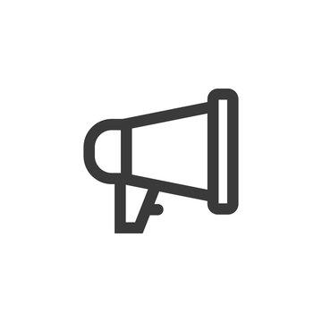 Simple outline megaphone icon symbol