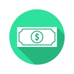 Dollar money flat icon vector
