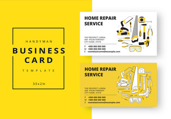 Carpenter  Business Card Layout in Two Colors