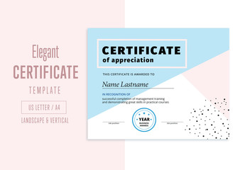 Elegant Abstract Award Certificate Layout