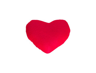 red heart isolated on white background with clipping path. love concept. valentine day.
