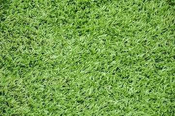 Green artificial plastic grass