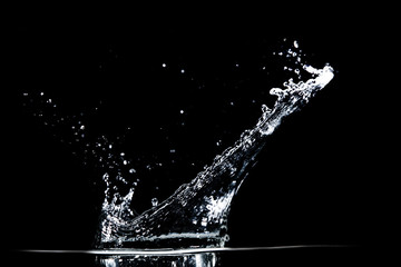 water splash on black