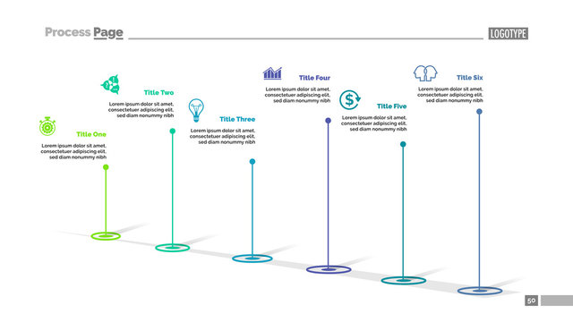 Six Point Diagram Slide Template