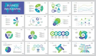 Fifteen Business Plan Slide Templates Set