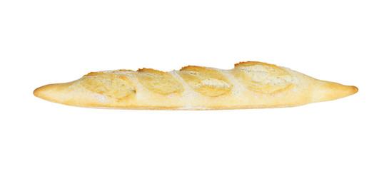 baguette bread isolated on white background. dinner baked