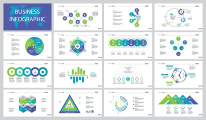Fifteen Data Analysis Slide Templates Set