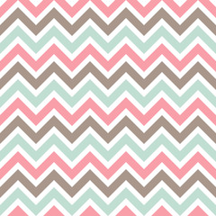 Seamless pattern with colorful zigzag