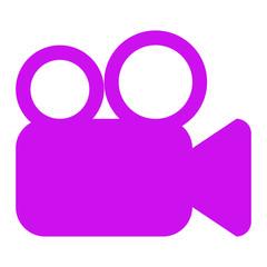 movie symbol of video camera icon