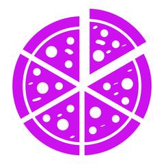 italian pizza cut into slices icon