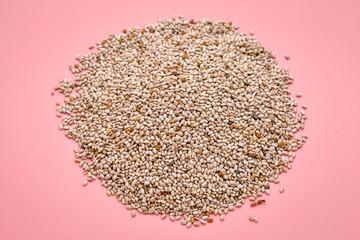 white chia seeds pile