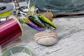 spinnind fishing set