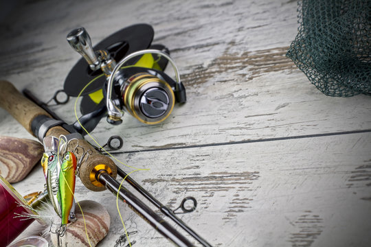 spinnind fishing set