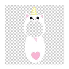 White unicorn photo sticker. Make your baby a unicorn.