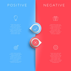 Positive Negative List Template With Arrow Points