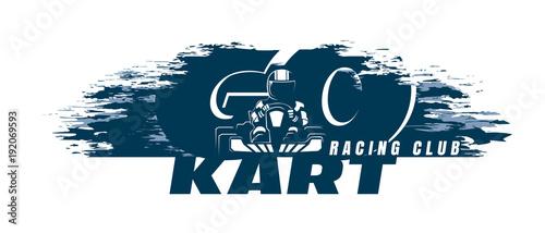 Go-Kart  Racing Club Poster Template