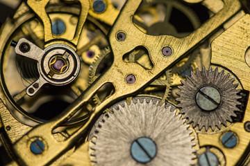 Mechanical watch, close up, gears