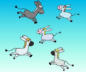 little gray donkey children