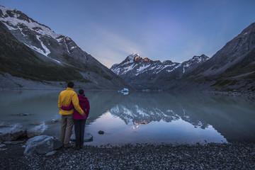 hooker glaciar and lake, Mt cook, New Zealand.