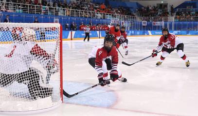 Olympics: Ice Hockey-Women Team Group B - SUI-JPN