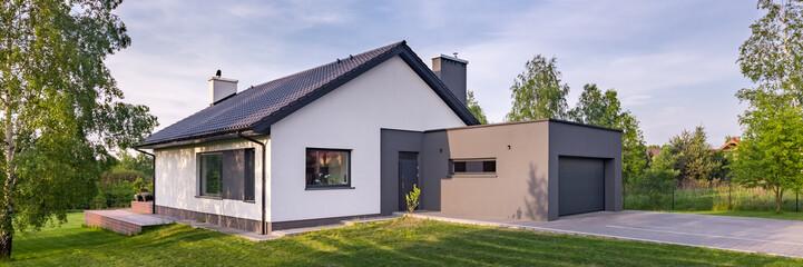 Modern family house Fototapete