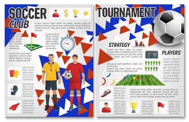 Vector soccer team club football club brochure