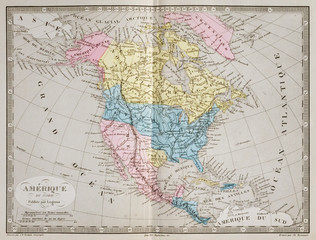 Map of North America and the Independent Republic of Texas (1845)