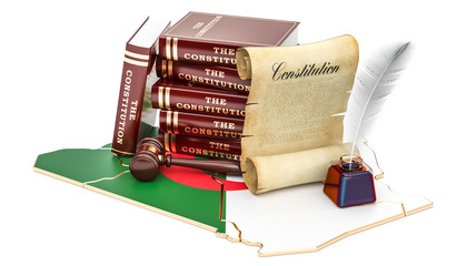 Constitution of Algeria concept, 3D rendering