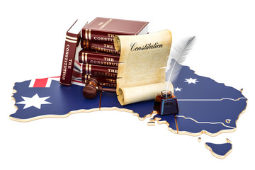 Constitution of Australia concept, 3D rendering