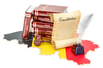 Constitution of Belgium concept, 3D rendering