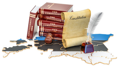 Constitution of Estonia concept, 3D rendering