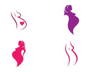 Pregnant vector icon