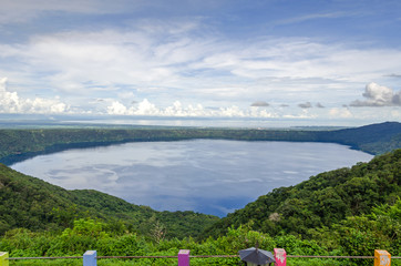 Volcanic lake Laguna de Apoyo in Nicaragua