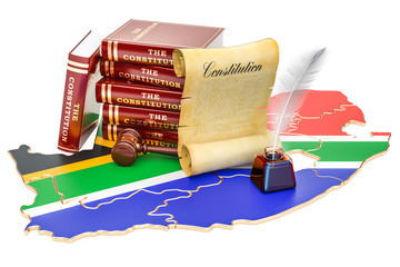 Constitution of South Africa concept, 3D rendering