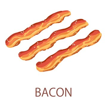 Bacon icon, isometric style