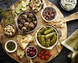 Greek appetizer platter