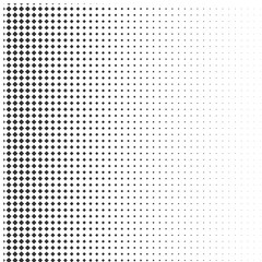 Abstract halftone texture with rhombuses.
