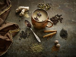 Chai Tea in copper mug