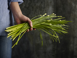 Chives in hand