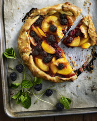 Blackberry and Peach Gallette