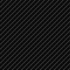 Black carbon fiber macro texture. Pattern of textile fibres material. Light carbon fibre fabric seamless dark vector background