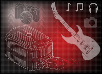 guitar microphone and camera