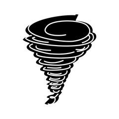 tornado season wind storm weather image vector illustration black and white design