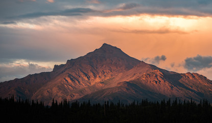 Alaskan Mountain Sunset