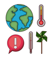 climate change set icons vector illustration design