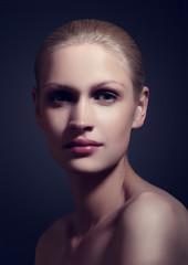 Beauty portrait natural makeup and classic light