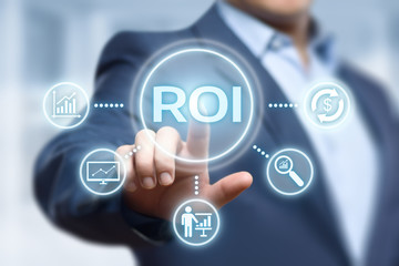 ROI Return on Investment Finance Profit Success Internet Business Technology Concept