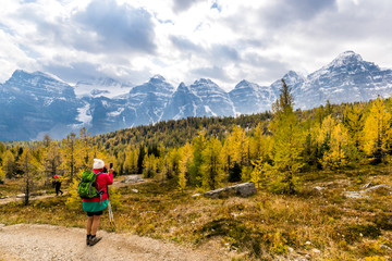 Tourist in Larch Valley