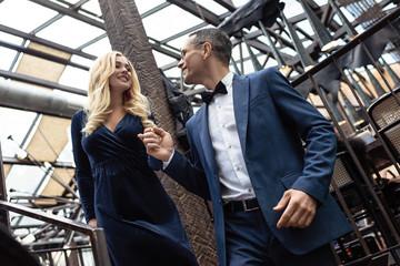 beautiful adult couple in stylish clothing