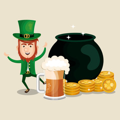 leprechaun saint patrick day character vector illustration design